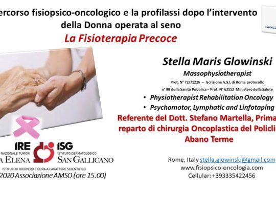 seminario IFO percorso fisio-psico oncologico post chirurgia mammaria